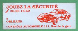 ORLEANS CONTROLE TECHNIQUE JOUEZ LA SECURITE /  AUTOCOLLANT - Autocollants