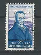 1954 N° 690  SILVIO PELLICO   OBLITERE - 6. 1946-.. Republic
