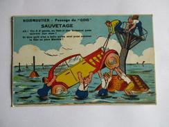 CPA 85 NOIRMOUTIER ILLUSTREE HUMORISTIQUE PASSAGE DU GOIS SAUVETAGE - Noirmoutier