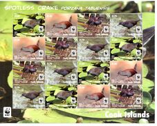 Cook 2014, WWF, Birds, 4val X4 In Sheetlet - W.W.F.