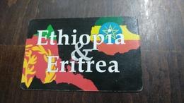 Israel-ethiopia & Eritrea-used Card+1card Prepiad Free - Etiopía