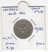 Belgique. Léopold I : 10 Cts 1862. Morin N° 134. TB/TTB - 1831-1865: Léopold I