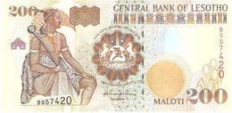 LESOTHO 200 MALOTI 2001 PICK 20b UNC - Lesoto