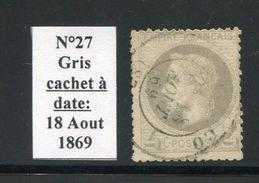 FRANCE- Y&T N°27- Cachet à Date - 1863-1870 Napoléon III. Laure