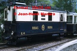 Reproduction D'une Photographie D'un Train à Crémaillère Ribas Nuria à Nuria En Espagne En 1972 - Riproduzioni