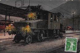 SIMPLONBAHN → Locomotive électrique Du Simplon Anno 1910 - VS Wallis