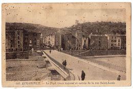 """"""" BEDARIEUX - Le Pont Vieux Rajeuni Et Entrée De La Rue Saint Louis """" - Bedarieux"""