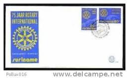 Surinam / Suriname 1980 FDC 40 Rotary - Rotary, Lions Club