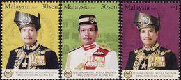 Malaysia 2007 S#1146-1148 Installation Of Yang Di-Pertuan Agong MNH Ruler Royalty - Malaysia (1964-...)