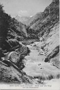 VISP - ZERMATT BAHN → Bahn Nach Zermatt Mit Der Vispaa & Dem Bruneckhorn,ca.1920 - VS Wallis
