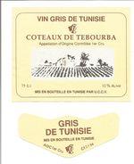 Etiquette VIN DE TUNISIE - Coteaux De TEBOURBA 1994 - Rosés