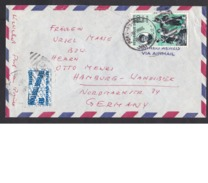 Haiti: Airmail Cover To Germany, 1961, 1 Stamp, 1 Tax Stamp, Dumas, Monte Christo, Literature (damaged, Roughly Opened) - Haïti