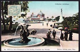 CPA - NICE (06 - ALPES MARITIMES) - LA JETEE PROMENADE ET LES JARDINS, FONTAINE DES TRITONS (N° 36) - ANIMEE - Parks