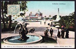 CPA - NICE (06 - ALPES MARITIMES) - LA JETEE PROMENADE ET LES JARDINS, FONTAINE DES TRITONS (N° 36) - ANIMEE - Parques, Jardines