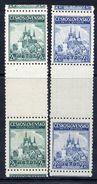 CZECHOSLOVAKIA 1937 Little Entente Guttern Pairs MNH / **.  Michel 375-76 ZS - Czechoslovakia