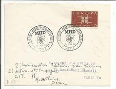 OBLITERATION SYMPOSIUM MHD MAGNETO-HYDRODYNAMIQUE PARIS 1964 - Commemorative Postmarks