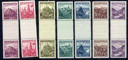 CZECHOSLOVAKIA 1936 Views Definitive In Gutter Pairs, LHM / * .  Michel 351-56 ZS + 386 ZS - Czechoslovakia