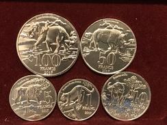 Katanga Set Of 5 Coins UNC - Katanga