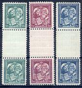 CZECHOSLOVAKIA 1935 St. Methodius Commemoration In Gutter Pairs MNH / ** .  Michel 339-41 ZS - Czechoslovakia