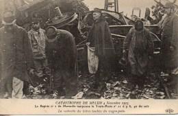 77  Catastrophe De Melun 4 Novembre 1913 Le Rapide N°2 De Marseille Tamponne Le Train Poste - Railway