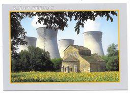 Cpsm: 01 SAINT VULBAS (ar. Belley) Chapelle Romane De Marcilleux Devant La Centrale Nucléaire N° 01BU764 - France