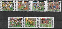 1994 TANZANIE 1715 A-G** Coupe Football, USA, Drapeaux - Tanzania (1964-...)