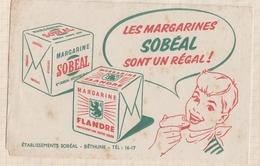 806  BUVARD LES MARGARINES SOBEAL BETHUNE - Food