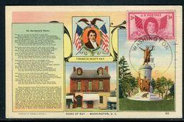 Etats Unis - Carte Maximum 1949 - Francis Scott Key - Maximumkarten (MC)