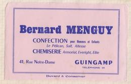 808  BUVARD BERNARD MENGUY CONFECTION GUINGAMP - Textile & Clothing