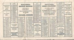 Poland 1924 Advertising Insurance Pocket Calendar Calendario - Kalender