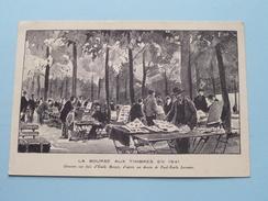 La Bourse Aux Timbres En 1941 ( Gravure Aux Bois D'Emile Boizot ) Anno ( Zie Foto Voor Details ) !! - Poste & Facteurs