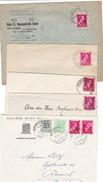 Leopold III : 5 Enveloppes ( Lsc ) De Godinne (  Tete Beche ) ,Kampenhout ST Lievens Essche , Bellegem ST Denijs - 1934-1935 Léopold III