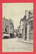 BEAUNE 1904 HALLES ET RUE MONGE CARTE EN BON ETAT - Beaune