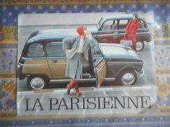 PUBLICITE RENAULT 4 LA PARISIENNE  Années 1963 - Advertising