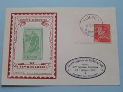 Société Liégeoise De TIMBROLOGIE ( Voir Photo ) Stamp 1956 Liège !! - Poste & Facteurs