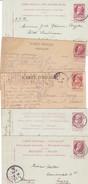 Grosse Barbe : 5 Cartes 1carte Réponse , Anvers Bassins , Chimay , BXL Et Auderghem - 1905 Grosse Barbe