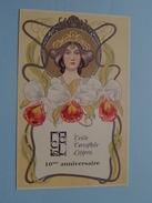 10me Anniversaire Cercle Cartophile Liégeois N° 041 ( Voir Photo ) 1987 Liège !! - Poste & Facteurs