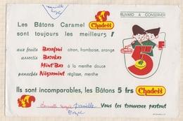 822  BUVARD LES BATONS CARAMEL CHADESS - Food