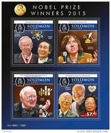 SOLOMON Isl. 2015 - Nobel Prize: W. Campbell, S Omura, Youyou Tu - Medicina