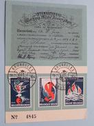 Socialistische Internationale 1864 - 1964 Brussel ( N° 4845 / Voir Photo ) Stamp Bruxelles 1964 !! - Poste & Facteurs