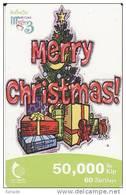 Laos Phonecard Weihnachten Merry Christmass - Laos