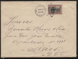 "Mexico MiNr. 250 Als EF Auf Brief Gelaufen 13.8.1914 Mit US-Militärpostamt-Stempel ""VERACRUZ U.S.M.AG."" - Marcofilia"