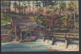 "ETATS-UNIS - Carte Toilée ""The Old Mill, Mountain Brock Estate, Birmingham, Alabama 106""  B/TB - - Etats-Unis"