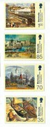 2001 Bermuda Art Paintings Trains Complete Set Of 4  MNH - Bermuda