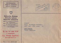 10823 HELVETIA SVIZZERA SUISSE SCHWEIZ ESERCITO SVIZZERO BELLINZONA RED CROSS  - 1964 - Svizzera
