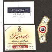 ITALIA - 2 Etichette Vino LAMBRUSCO DELL'EMILIA Cantine CHIARLI Di Modena Rosato Dell'EMILIA - Vino Rosato
