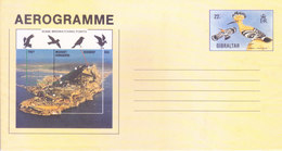 GIBRALTAR - UNUSED / MINT ILLUSTRATED OFFICIAL AEROGRAMME - 22 PENCE - SOME BIRD WATCHING POINTS - Gibraltar