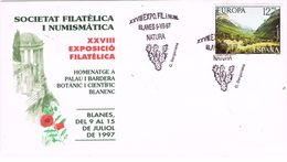 25230. Carta Exposicion BLANES (Gerona) 1997. Natura, Cactus, Jardin Botanico - Cactus