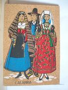 VG 1987 - Reggio Calabria - Cosenza  Catanzaro  Costume Della Calabria - Costumi Tradizionali - Folklore - Sughero - Cartoline