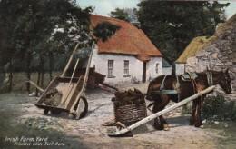 Ireland Dublin Primitive Slide Turf Cart Irish Farm Yard - Dublin